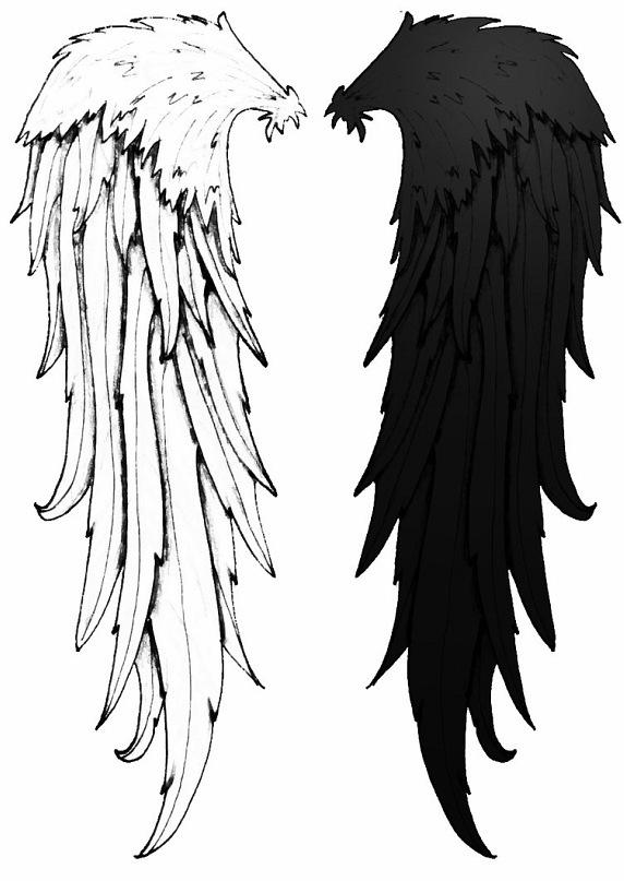 тату крылья ангела