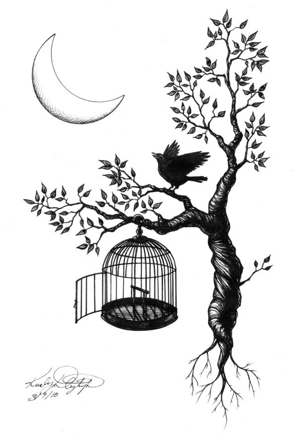 рисунки тату птицы